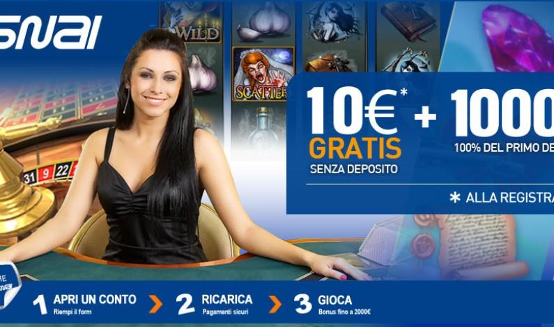 Slot bonus senza deposito 10 euro