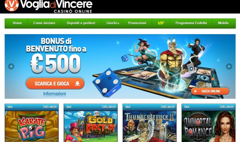 Slot Online: Bonus del 100% sul primo deposito