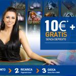 Snai Bonus Senza Deposito 10 euro + bonus fino a 1000 euro sul primo deposito