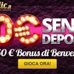 Bonus del Mese: LuckyClic 10 euro di bonus senza deposito per giocare alle slot online